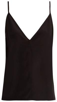 Raey Fitted deep V-neck silk cami top