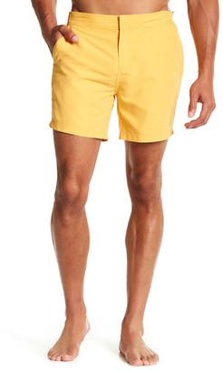 JACHS Solid Hampton Fit Swim Trunk $79 thestylecure.com