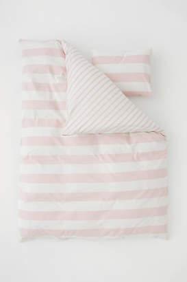 H&M Striped Duvet Cover Set - Pink