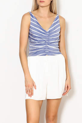 Lucy Paris Gathered Front Crop Top