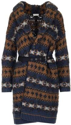 Brunello Cucinelli Chunky Knit Belted Cardigan