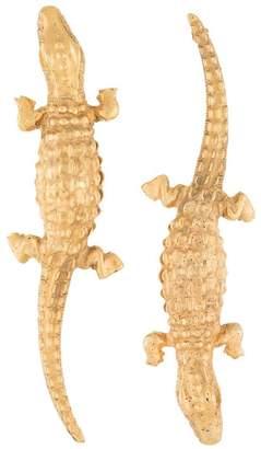 Lako Bukia X Natia Khutsishvili large crocodile earrings