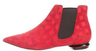 Nicholas Kirkwood Suede Pointed-Toe Ankle Boots