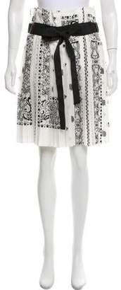 Sacai Paisley Print Belted Shorts
