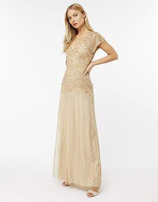 Monsoon Stella Embellished Maxi Dress