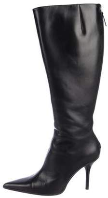 Michael Kors Knee-High Pointed-Toe Boots Black Knee-High Pointed-Toe Boots