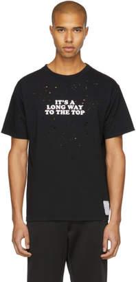 Satisfy Black Long Way Moth-Eaten T-Shirt