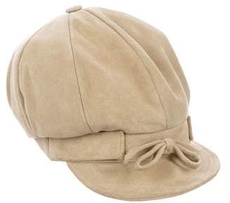 Barneys New York Barney's New York Suede Newsboy Hat