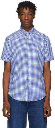 Polo Ralph Lauren Blue and White Check Oxford Shirt