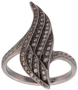 Loree Rodkin 18kt diamond wing ring