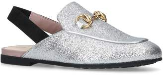 Gucci Glitter Princetown Slingback Slippers