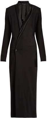 HAIDER ACKERMANN Phaseolus double-breasted crepe coat $1,884 thestylecure.com