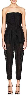 Philosophy di Lorenzo Serafini Women's Embroidered Sheer Jumpsuit