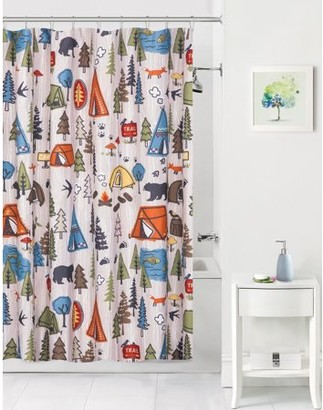 Mainstays Kids Camping Coordinating Fabric Shower Curtain