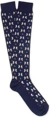 Etro Penguin-Patterned Cotton-Blend Socks $60 thestylecure.com