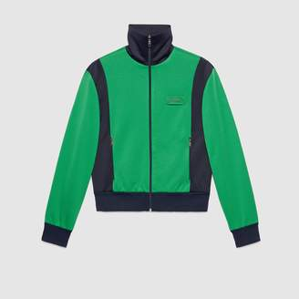 Gucci Tiger patch technical jersey jacket