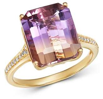 Bloomingdale's Ametrine & Diamond Ring in 14K Yellow Gold - 100% Exclusive