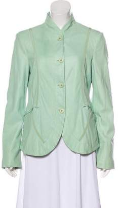 Armani Collezioni Trim Accented Button-Up Jacket
