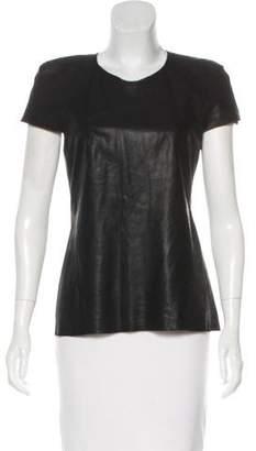 Ohne Titel Sleeveless Leather Top