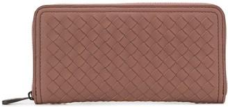 Bottega Veneta Intrecciato zip wallet