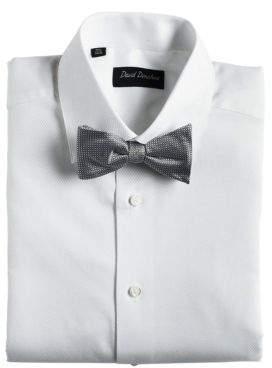 Black & Brown Black Brown Silk Bow Tie