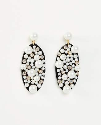 Ann Taylor Pearlized Fabric Earrings