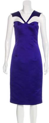 Cushnie et Ochs Satin Midi Dress
