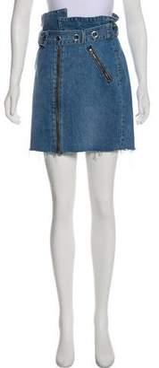 GRLFRND Ava Denim Belted Mini Skirt