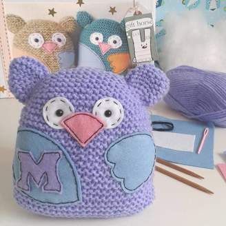 Gift Horse Knitting Kits Personalised Owl Learn To Knit Craft Kit