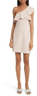 Women's Elizabeth And James Jerard Ruffle One-Shoulder Dress $415 thestylecure.com