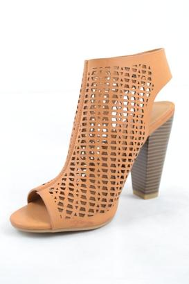 Bamboo Open Toe Heel $34 thestylecure.com