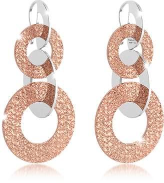 Rebecca R-Zero Rose Gold Over Bronze Dangle Earrings