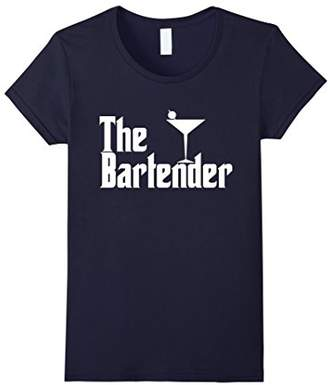 Womens The Bartender Bartending Funny Parody Retro Movies T-Shirt Medium