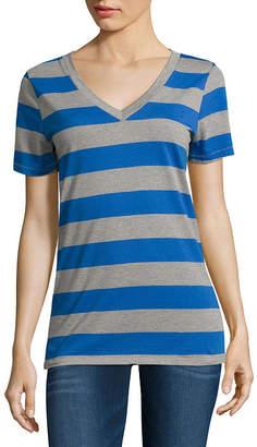 Arizona Short-Sleeve V-Neck T-Shirt - Juniors