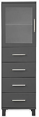 JCPenney Frosted Pane 4-Drawer Linen Cabinet