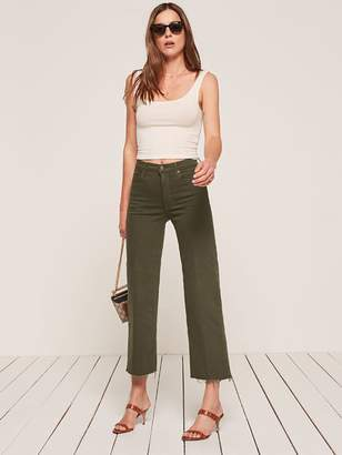 Reformation Petites Stretch Flood Jean