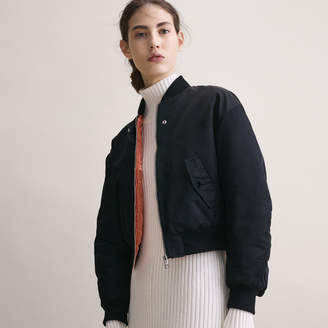 Maje Cropped reversible bomber jacket