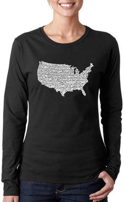 LOS ANGELES POP ART Los Angeles Pop Art The Star Spangled Banner Long Sleeve Graphic T-Shirt