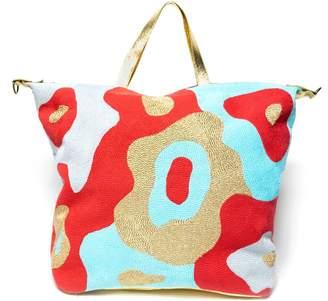 Veero Mod Camo Weekender Bag Aqua Persimmon & Gold