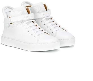 Buscemi Kids straped hi-top sneakers