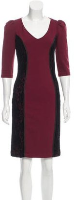 Alice by Temperley Lace Trim Knee-Length Dress $75 thestylecure.com