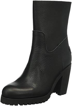 Womens 42cm High Flat Heel Special Rubber Matching Sole Lee Ankle Boots, 8 Shabbies Amsterdam