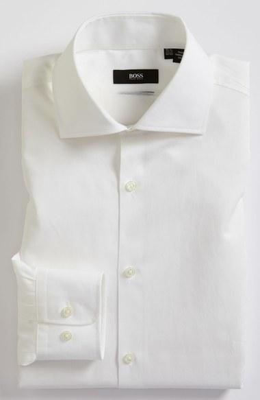 BOSS 'Miles' Sharp Fit End-on-End Dress Shirt