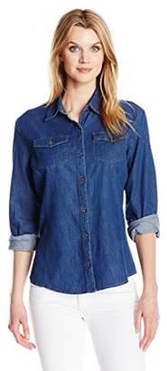 Lee Indigo Women's Denim Long Sleeve Woven Shirt