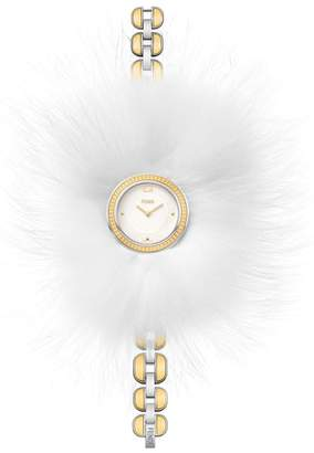 Fendi My Way Genuine Fox Fur Bracelet Watch, 36mm