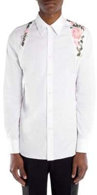 Alexander McQueen Rose Holster Button-Down Shirt
