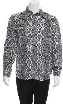 Just Cavalli Zebra Kaleidoscope Silk Shirt