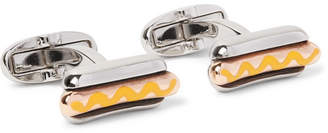 Paul Smith Hot Dog Enamelled Silver-Tone Cufflinks