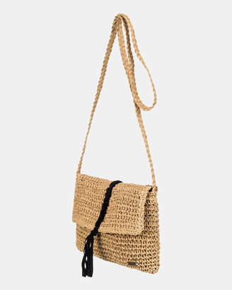 Roxy Gypsy Mermaid Braided Straw Shoulder Bag