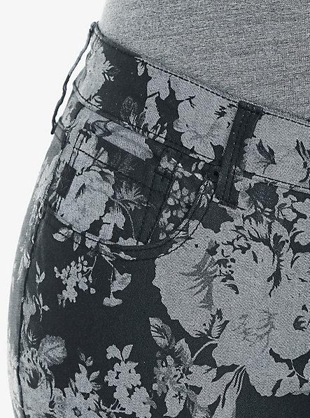 Torrid Denim - Floral Print Super Skinny Stiletto Jean